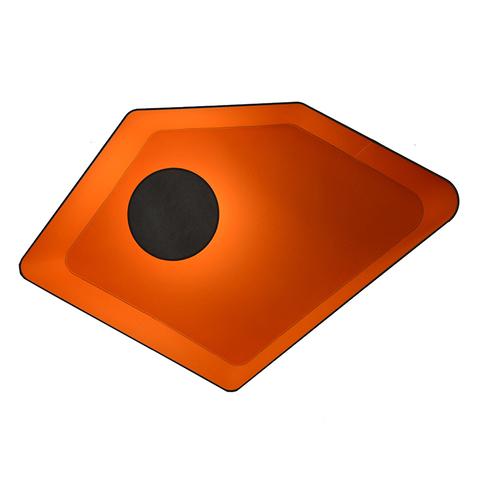Потолочный светильник Designheure Nenuphar petit gris-orange