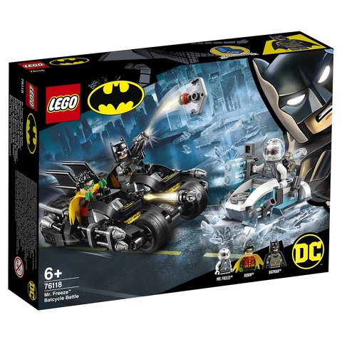 LEGO Super Heroes: Гонка на мотоциклах с мистером Фризом 76118 — Mr. Freeze Batcycle Battle Clash — Лего Супер Герои ДиСи