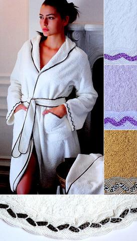 Элитный халат махровый Greta слоновая кость от Timas