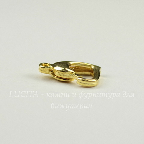 "Замок - карабин ""Сердце"" 13х11 мм (цвет - золото)"