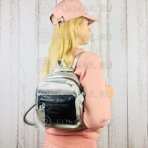 Женский рюкзак-трансформер Серебристый