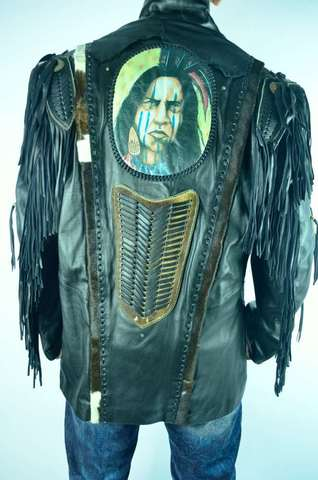 Дизайнерская кожаная куртка HandMade