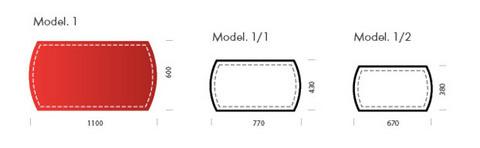 Схема с размерами оригинального бювара модели №1.