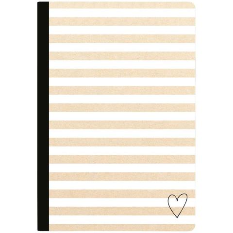 Тетрадь Color Crush Composition Planner Notebook -Kraft Stripe Lined Sheets- 80л