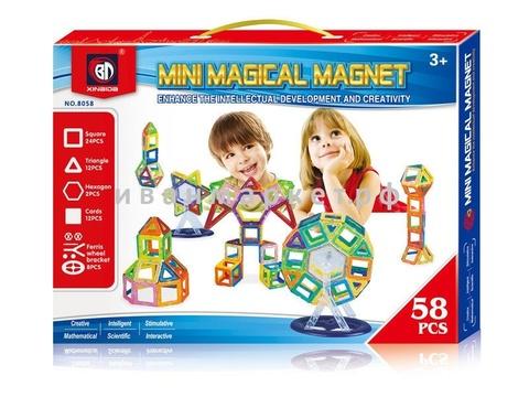 Магнитный конструктор 58 мини деталей  Mini Magical Magnet
