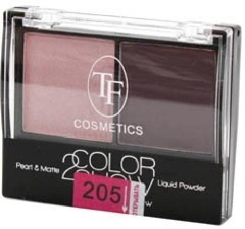 ТФ Тени двухцветные компактные тон 205 светло-розовый и кофейный CTE-21