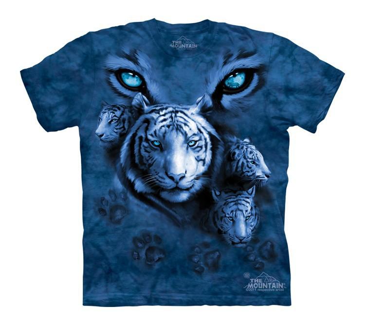 Футболка детская Mountain с изображением глаз белого тигра - White Tiger Eyes