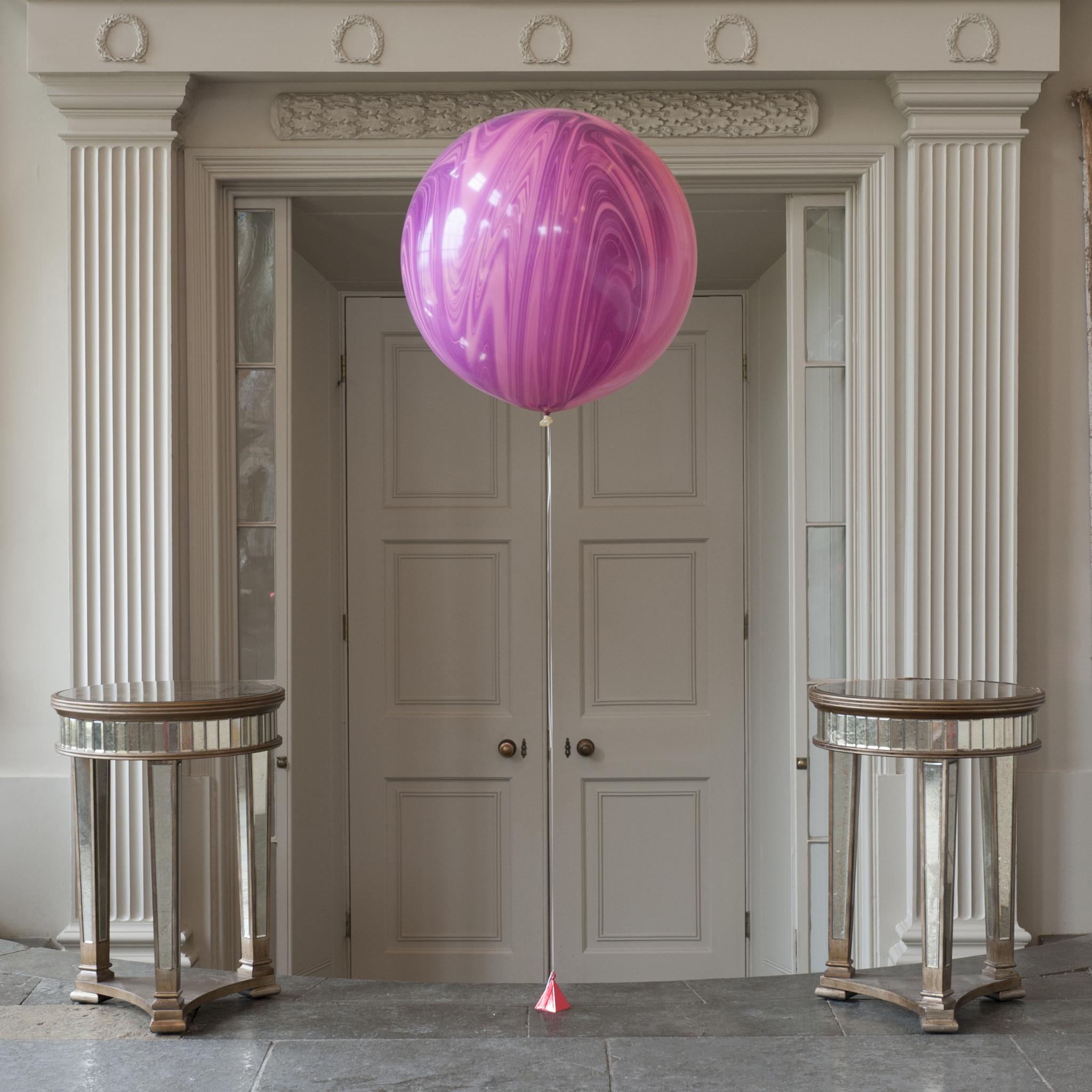 Свадьба Мраморный воздушный шар 70 см. фиолетовый Шар-70-см-Агат-Розовый-с-Грузиком.jpg