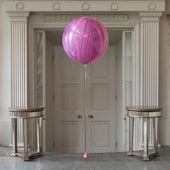 Мраморный воздушный шар 70 см. фиолетовый