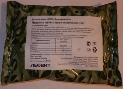 Макаронные изделия с мясом и овощами 'Леовит', 600 г