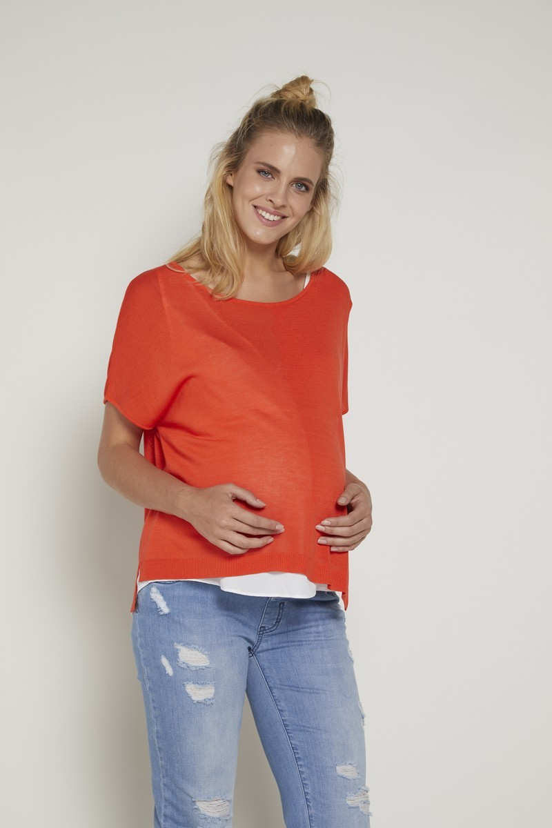 Блузка 09373 оранжевый