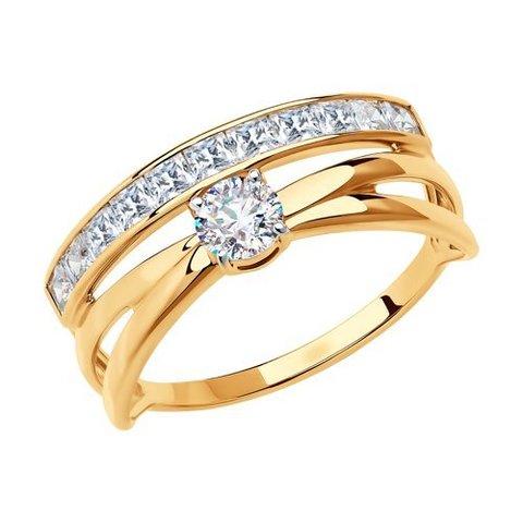 018558 - Кольцо из золота с фианитами