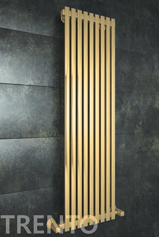 Trento Vertical -бронзовый вертикальный дизайн полотенцесушитель