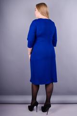Тейлор. Нарядное женское платье больших  размеров. Электрик.