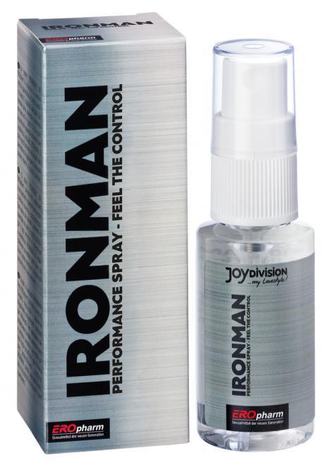 Пролонгаторы: Пролонгатор-спрей для мужчин IRONMAN Spray - 30 мл.