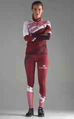 Детский Раздельный лыжный гоночный комбинезон NordSki Premium Wine-Rose 2020
