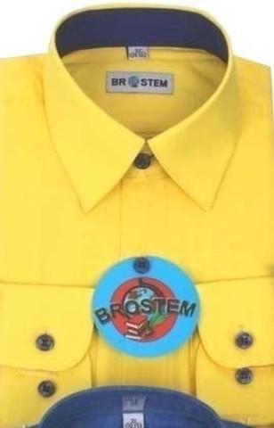 BROSTEM Рубашка для мальчика школьная 8052d желтый