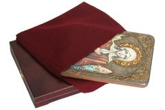 Инкрустированная икона Святая Блаженная Ксения Петербургская 29х21см на натуральном дереве в подарочной коробке
