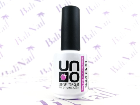 UNO, Верхнее покрытие для гель-лака SUPER SHINE без липкого слоя, 15мл