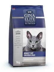 Gina Elite ADULT CAT Chicken & Rice полноценный корм высшего качества для взрослых кошек с курицей и рисом