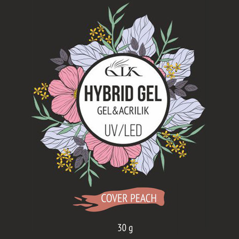 Акри-гель Gellaktik Hybrid Gel UV/LED №8 COVER PEACH (30 мл)