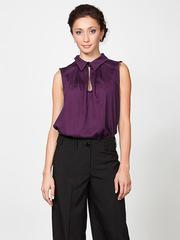 B184-85 блузка женская, бордовая