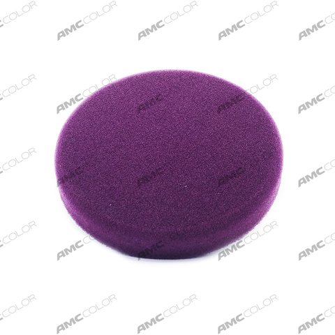 RoxelPro Поролоновый полировальник на липучке 150 х 25мм, твердый, пурпурный