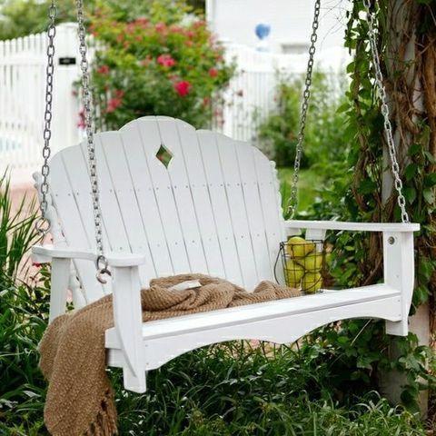 деревянные садовые качели