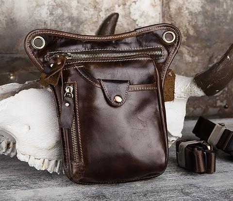 Крутая набедренная сумка из натуральной кожи