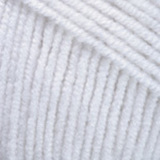 Пряжа YarnArt Jeans 01 белый