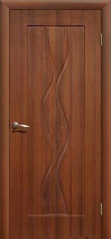 Дверь Сибирь Профиль Водопад, цвет итальянский орех, глухая