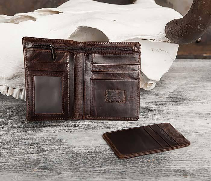 WL297-2 Классическое мужское портмоне со съемным кардхолдером фото 06