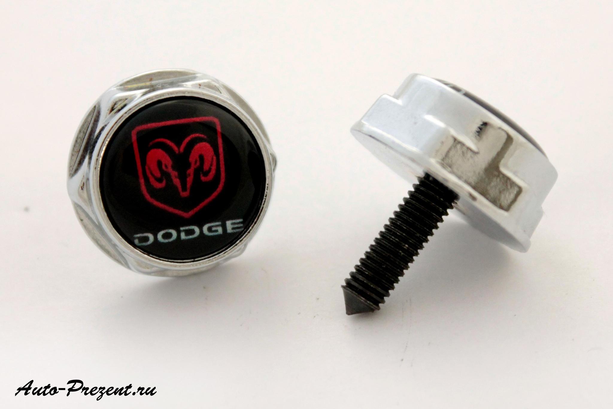Болты для крепления госномера с логотипом DODGE