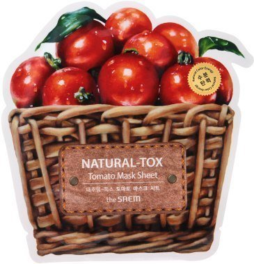 Saem Тканевая маска с экстрактом томата Natural-Tox Tomato Mask Sheet