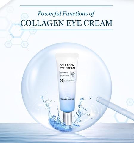 Увлажняющий гель-крем для глаз с гидролизованным коллагеном, 25 мл / Village 11 Factory Collagen Eye Cream
