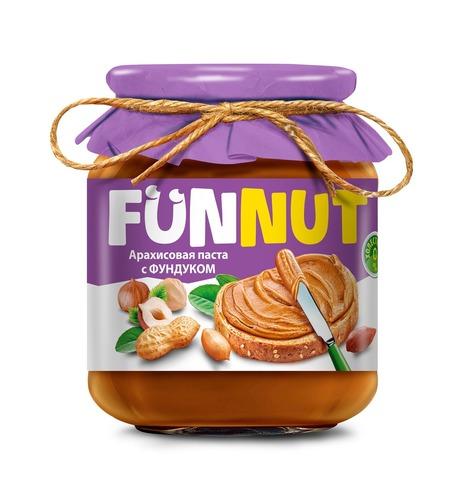 Арахисовая паста FUNNUT, с фундуком, 340 гр