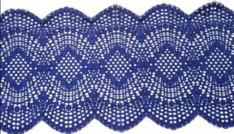 Эластичное кружево, ОПТ, 19,5см, темно-синий, (Арт: EK-061/1), м