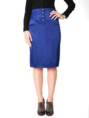 7121 юбка синяя