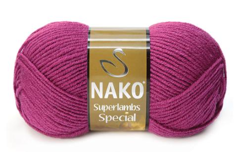 Пряжа Nako Superlambs Special арт. 1302 малиновый