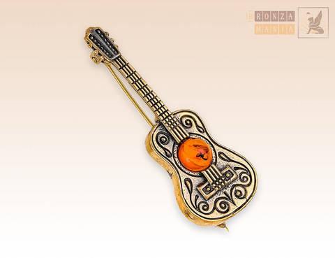 брошь Гитара Испанка