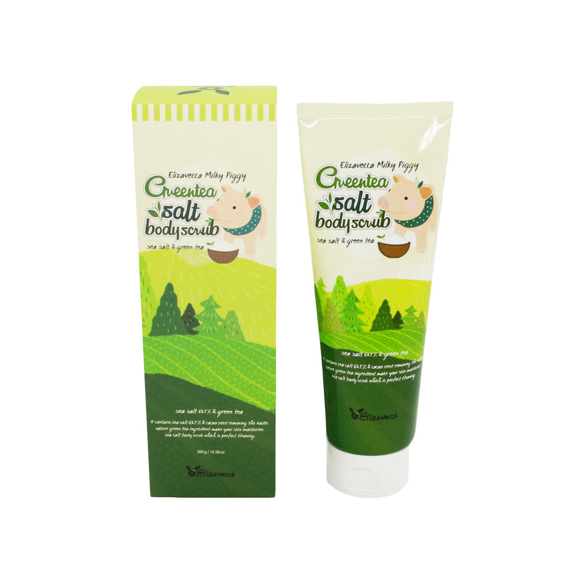 Скрабы для тела Скраб для тела Elizavecca MIlky Piggy Green Tea Salt Body Scrub (tube), 300 мл import_files_6f_6f7656195abf11e980fb3408042974b1_6f76561a5abf11e980fb3408042974b1.jpg