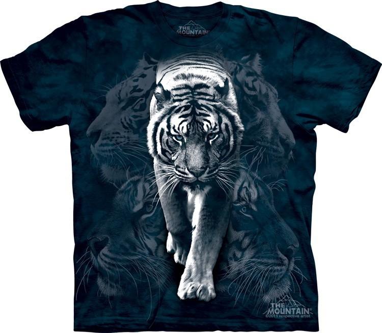 Футболка Mountain с изображением белого тигра - White Tiger Stalk