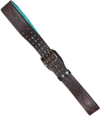 Ремень офицерский элитный коричневый быстроотстегивающийся 50мм кожа/велюр №1
