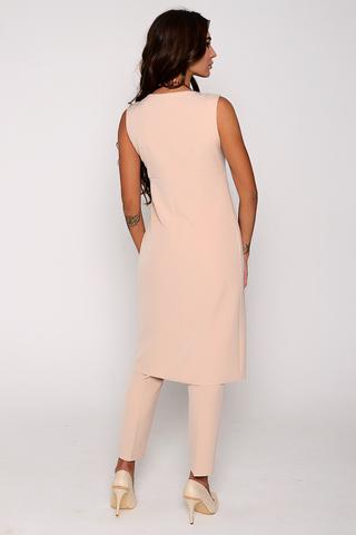 Шикарный костюм на лето. Прямые брюки на резинке отлично сочетаются с эффектной длинной туникой. (Длина: Туника 44-100см ; 46-101 см; 48-102 см ; 50-103 см ; Брюки во всех размерах 100 см по внешнему шву.)