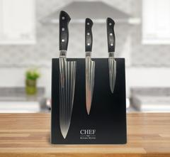 Набор из 3-х кухонных ножей Samura PRO-S c подставкой CHEF