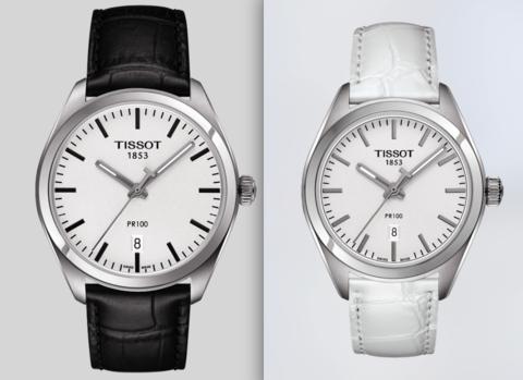 Купить Парные часы TISSOT PR 100: T101.410.16.031.00 и T101.210.16.031.00 по доступной цене