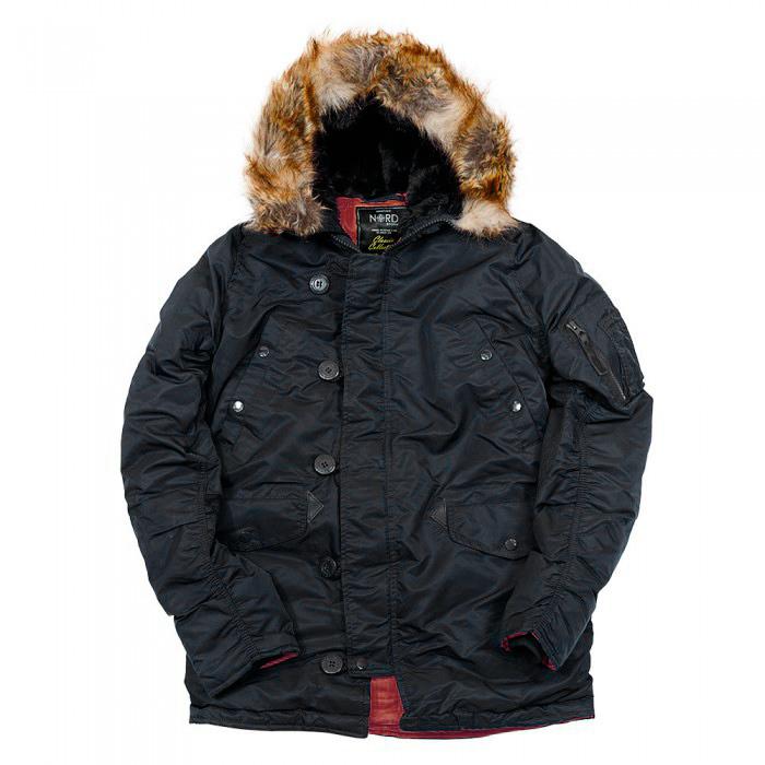 Куртка Аляска  Nord Storm N-3B Husky (черный/красный - black/red)