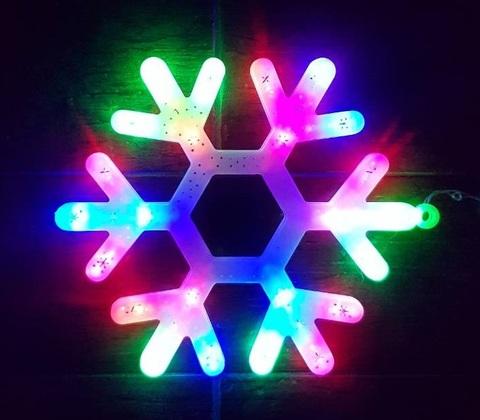 снежинка LED гирлянда