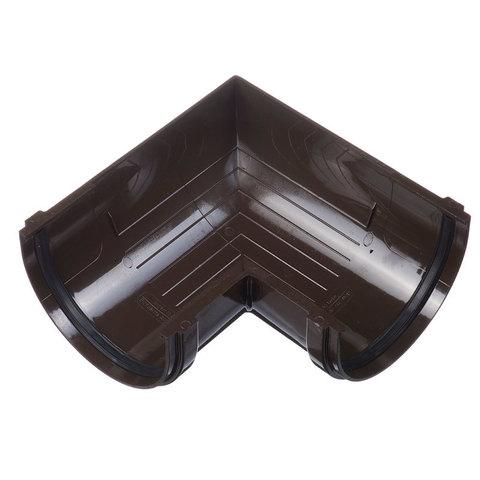 Угловой элемент желоба 90гр ПВХ Docke Standart Шоколад