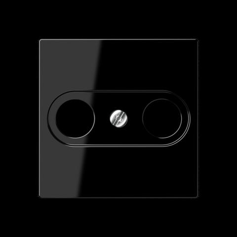 Розетка TV-FM проходная. Цвет Чёрный. JUNG A. S2900-10+A561PLTVSW